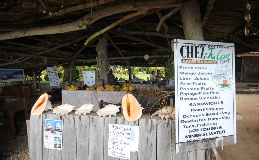 Les smoothies de Jules à Anse Banane(Seychelles)